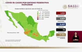 1,890 positive cases of coronavirus in Mexico