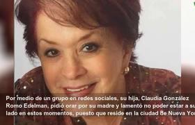 Hospitalizan a la actriz Cecilia Romo por COVID-19