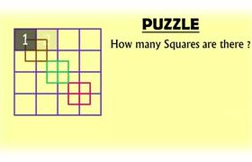 How many Squares - Puzzle with Best Answer