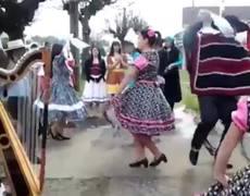 Folkloric Dancer FAIL