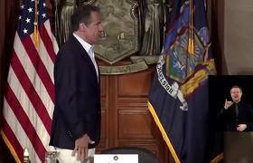 NY Governor Andrew Cuomo takes COVID-19 test on live TV
