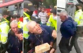 Graban a policías maltratando a un hombre de 70 años