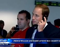 Princes William And Harry Attend BGC Charity Day