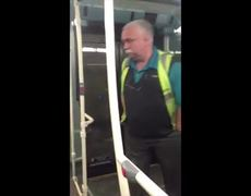Caught on tape Bus Driver urinating on bus in London