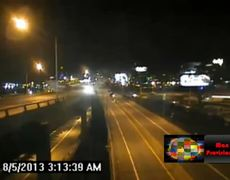 Dramatic Crash Drunk Driver Hits Truck And Sends It Over a Guardrail Falling Nearly 40 Ft
