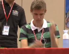 The Winner of Rubiks Cube World Championship solves in 736 seconds