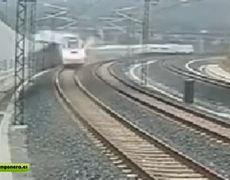 New video of train accident in Santiago de Compostela