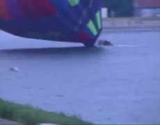 Hot Air Balloon Crashes in the Netherlands