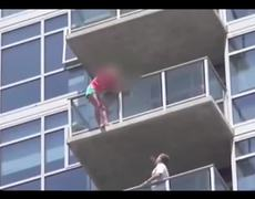 Comic Con 2013 Stuntmen Save Woman Threatening To Jump Off Building