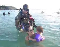 Heartbreaker moment Soldier returns from Afghanistan and surprises his family on the beach