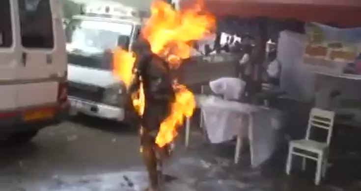 Buddhist Monk Lights Himself On Fire Other Guy Accidentaly
