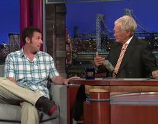 David Letterman Adam Sandler Attacked By Cheetah during Safari in Africa