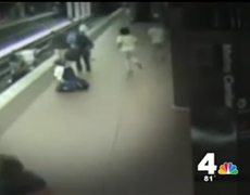Man in Wheelchair Falls Onto Train Tracks But Is Saved