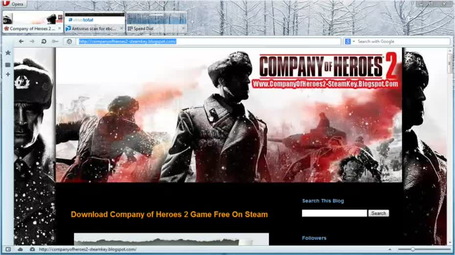 Company of Heroes 2 Steam Key Giveaway Free