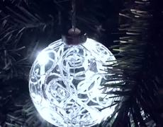 Lighted Christmas Tree Ornaments Battery Closet Light