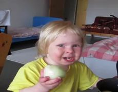 Toddler Eats Onion Like An Apple