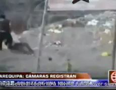 Woman throws her husbands mistress to a cliff in Peru