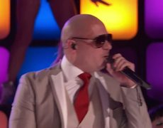 The Voice USA 2013 Pitbull and Christina Aguilera Feel This Moment 1862013