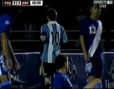 Guatemala vs Argentina 04 Messi Hattrick vs Guatemala Friendly