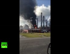 Raw Video Chemical explosion in Louisiana