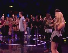 The X Factor UK 2014 Only The Young sing Dolly Partons 9 to 5 Boot Camp