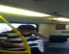 Original Video Kids caught vandalizing on train