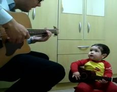 Adorable baby singing Dont Let Me Down The Beatles