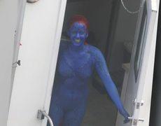 Jennifer Lawrence Mystique Traje de Bodypaint