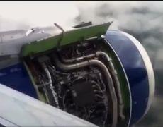Aterrizaje de emergencia en Londres Video de la vista del avión