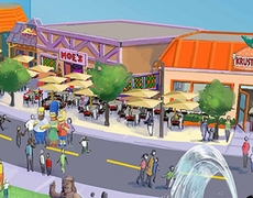 Universal Orlando The Simpsons theme park expansion announced with Springfield street