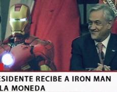 Iron Man is visiting Santiago de Chile