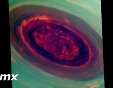 NASA shows images of the hurricane on Saturn