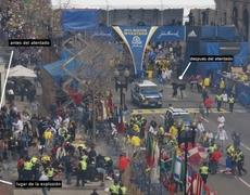 Mercenarios del FBI en el lugar de los atentados en Boston