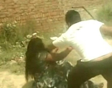 Brutal beating women with sticks from India