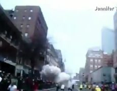 Amateur video shows blast at finish line in Boston