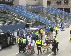 Dramatic scenes of aftermath of Boston Marathon blast