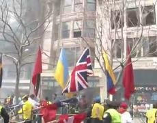 Aftermath to explosion at Boston Marathon