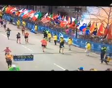Dramatic Video Finish Line Camera in Boston Marathon caugth explosion