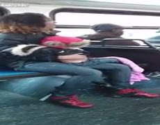 This Woman Is Reckless Throws Her Baby During Bus Fight