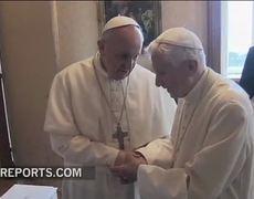 Pope Francis visits Benedict XVI in Castel Gandolfo
