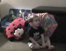 Toddler freaks out while watching tv