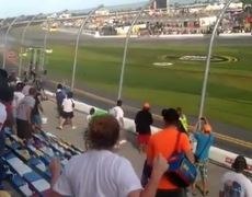 Awesome NASCAR crash leaves 30 injured spectators Fan Video
