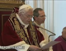 Video from resignation of Benedict XVI