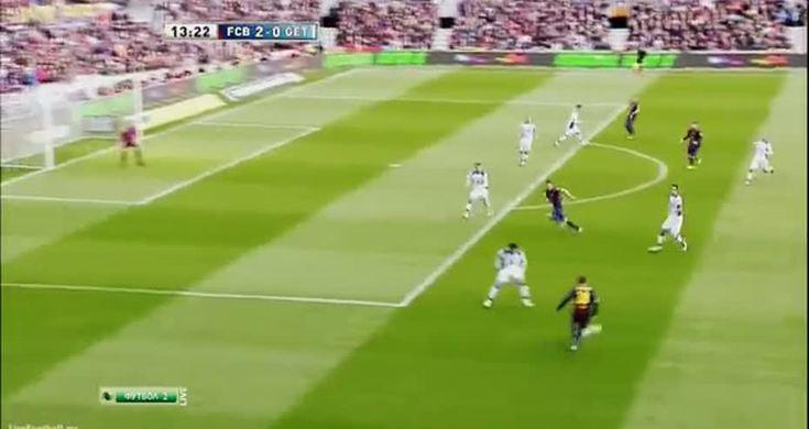 Real Madrid Vs Getafe La Liga 2013 Brilliant Second: Barcelona Vs Getafe 2 0 Lionel Messi Goal La Liga 2013