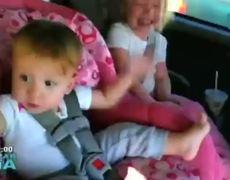 Cute baby wakes to dance Gangnam Style