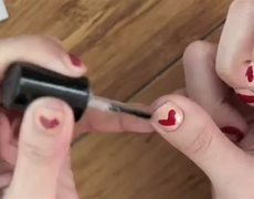 Valentine DIY Nail Hearts Using BandAids