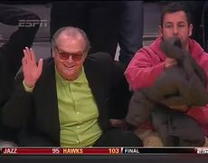 Adam Sandler and Jack Nicholson On The Lakers
