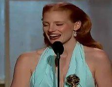 Golden Globes 2013 Jessica Chastain WINS Best Actress Drama for Zero Dark Thirty