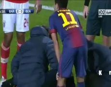 Leo Messi injury Barcelona vs Benfica 5122012