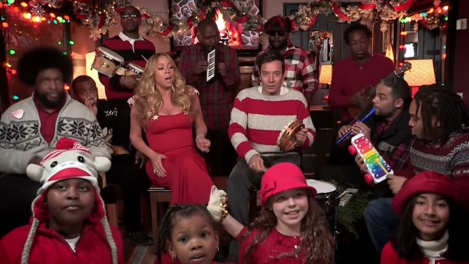 Jimmy Fallon Mariah Carey And The Roots Do All I Want For Christmas ...